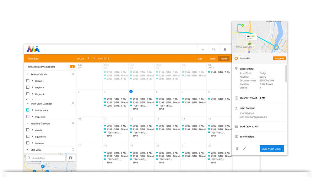Scheduling Work - Create schedules for people, assets, equipment, and plan out the next week, month, year. Build alerts and link them to your schedule. Atom allows users to schedule people and things as well as track real-time the completion and return on investment of the schedule.