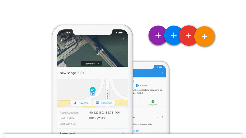 Mobile Creation - Create work, assets, and more in the field. For example, if a user is navigating to their work using our app and identify an issue they can easily create work on the fly. Users can also create and/or add information to assets out in the field should the data not yet exist.