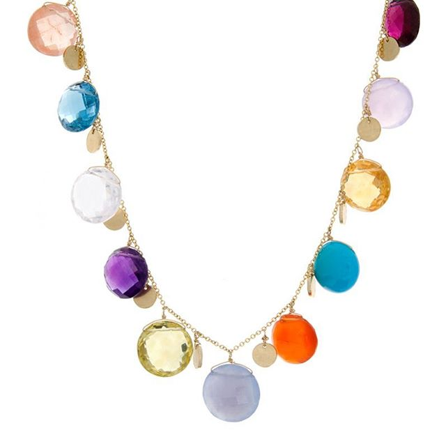 Be bright and bold! #celladesigns #sapphires #gemstones #necklace #gold #madeinla #california #ootd #diamonds #18k