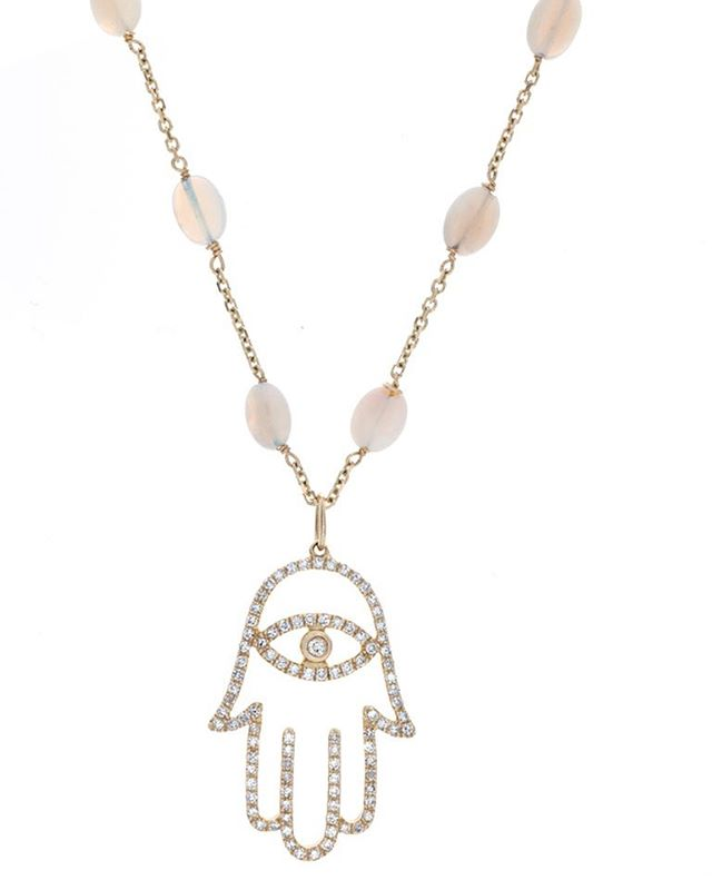 #Hamsa Necklace with #opals in #18k #yellowgold #handmade and #oneofakind #madeinla