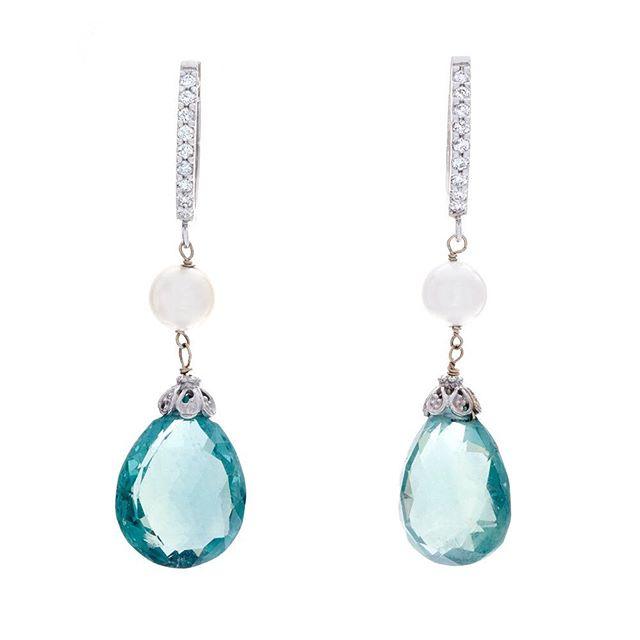 Clear as sky. #celladesigns #gemstones #earrings #finejewelry #diamonds #handmade #customjewelry
