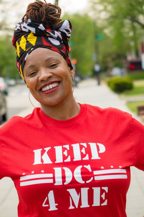 April Goggans - April Goggans became a Core Organizer with Black Lives Matter DC in September of 2015. Her organizing work focuses on community power building, affordable housing and tenants rights, labor, large scale direct action organizing, intra-community violence, policing and police brutality. She recently launched #KeepDC4Me, which is a coalition working to find non-police solutions to intra-community violence in ways that disrupt, confront, and dismantle systems of state sanctioned violence that displace and criminalize Black people through political education, building community power, and direct action. April has been organizing for more than 20 years and almost 10 of those years have been in southeast Washington, DC. Ms. Goggans received her Masters Degree in Clinical Sociology from the University of Northern Colorado. Ms. Goggans holds a Bachelor's degree in Black Studies and Sociology: Social Issues, and a minor in Cultural Anthropology.