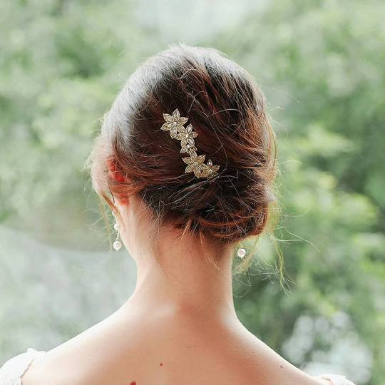 Gold Bridal Hair Pins.
