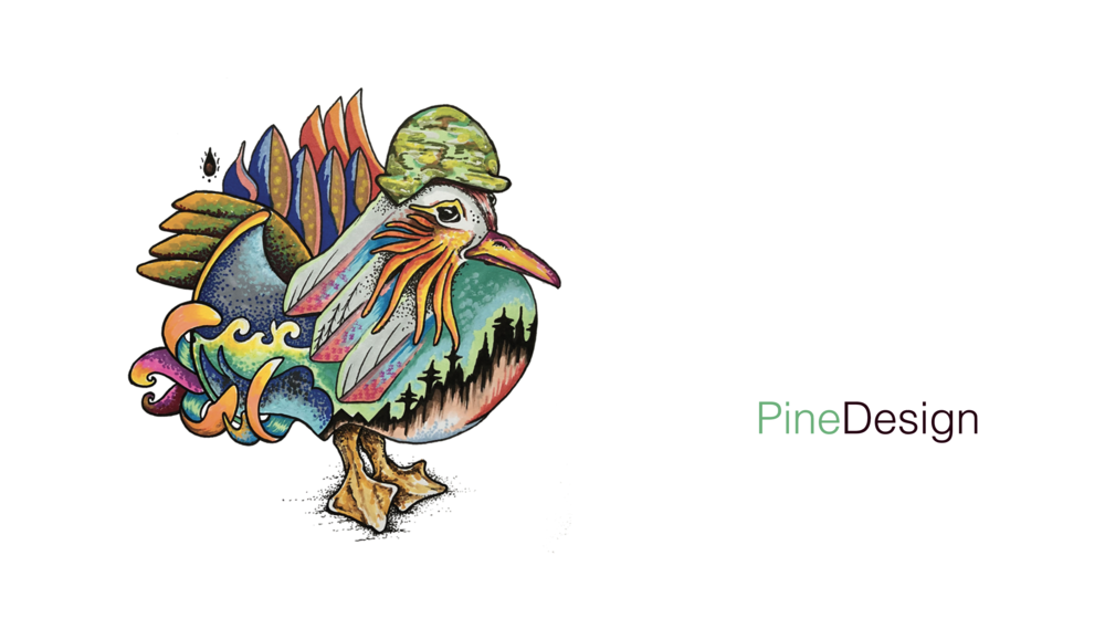 Pine Design Business Card Front