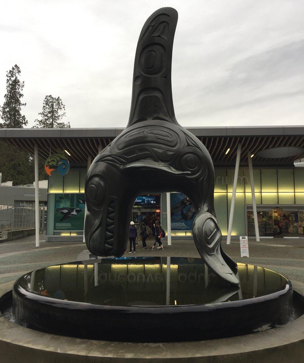A Bill Reid Piece Outside Of The Vancouver Aquarium