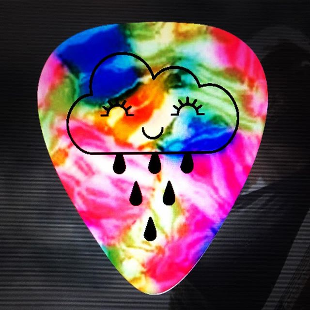 I finally got my own personal guitar pics made 🌈 #breezy