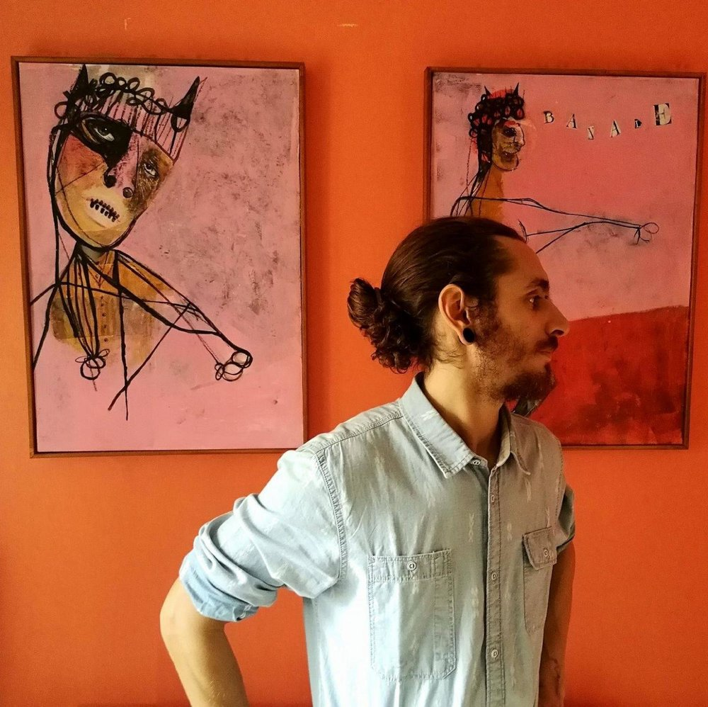 His exhibition of eight portraits at Daville Baillie Gallery in Lorentzville, Johannesburg, is his first on the African continent. -