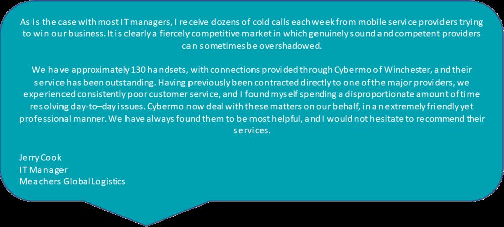 Cybermo testimonial