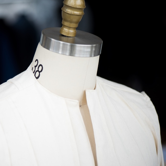 Choose fabrics and get measured -
