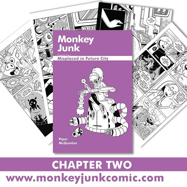Chapter Two is now available for pre-order! 🎊🎉 Head to www.monkeyjunkcomic.com to order your copy. Still haven't picked up chapter one? Don't worry, we got you covered. For the next few weeks chapter two is on SALE for only $5 so grab a bargain and get caught up asap!