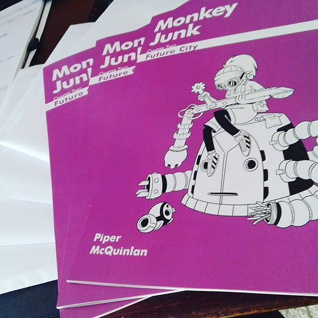 First batch of orders are going out for 'Chapter Two: Future City' today! Head to www.monkeyjunkcomic.com today to order your copy!