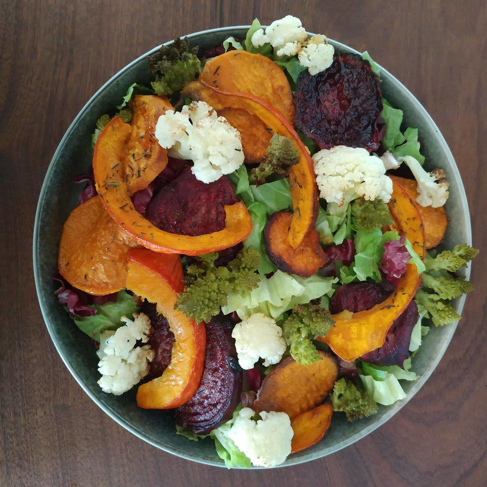 2. + Kürbis, Süßkartoffel, Rote Beete, Romanesco und Blumenkohl
