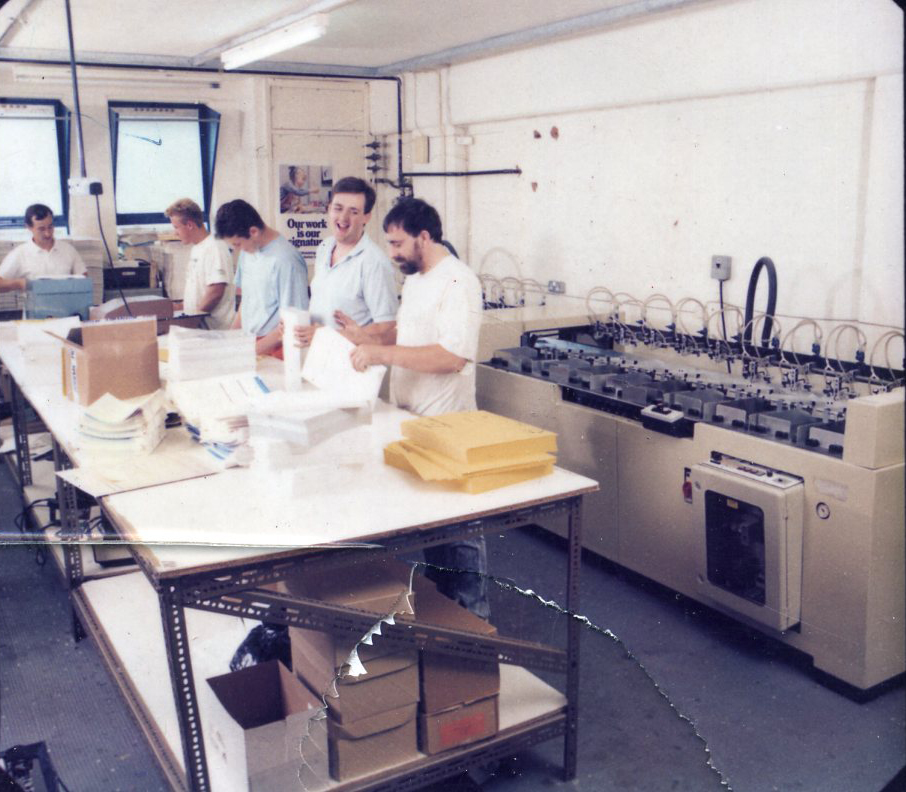 Staff at our original factory in the East End circa 1989.