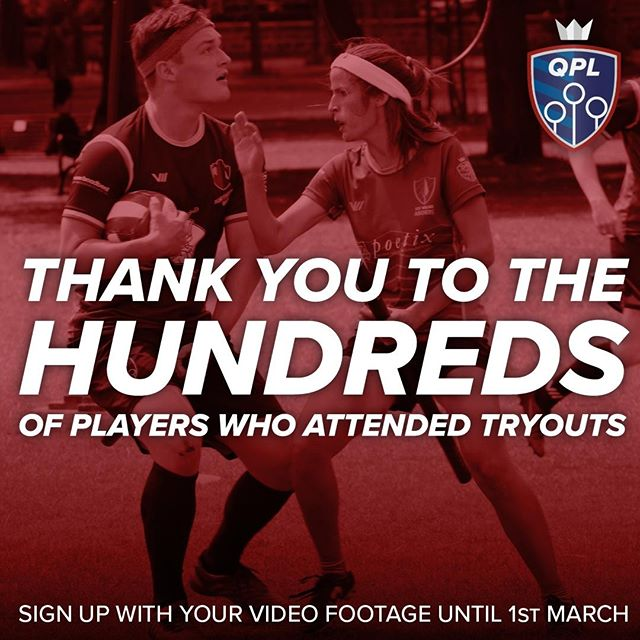 Try-outs from Glasgow to Brussels. Hundreds of attendees. Thank you.  But if you weren't one of them, don't worry! You can still sign up to submit a video (just one that showcases you as an athlete, it doesn't have to be fancy!), and get that in by 1st March!  TAG A FRIEND you want to play alongside (or against!) this summer... https://goo.gl/forms/qzCswG0uBJ9s1zeB2  #quidditch #LGBTQ #sports