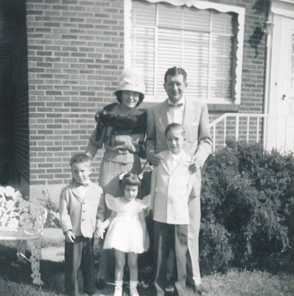 Born in McKees Rocks, PA (near Pittsburg) John Kasich (far-right) pictured with his parents and siblings.