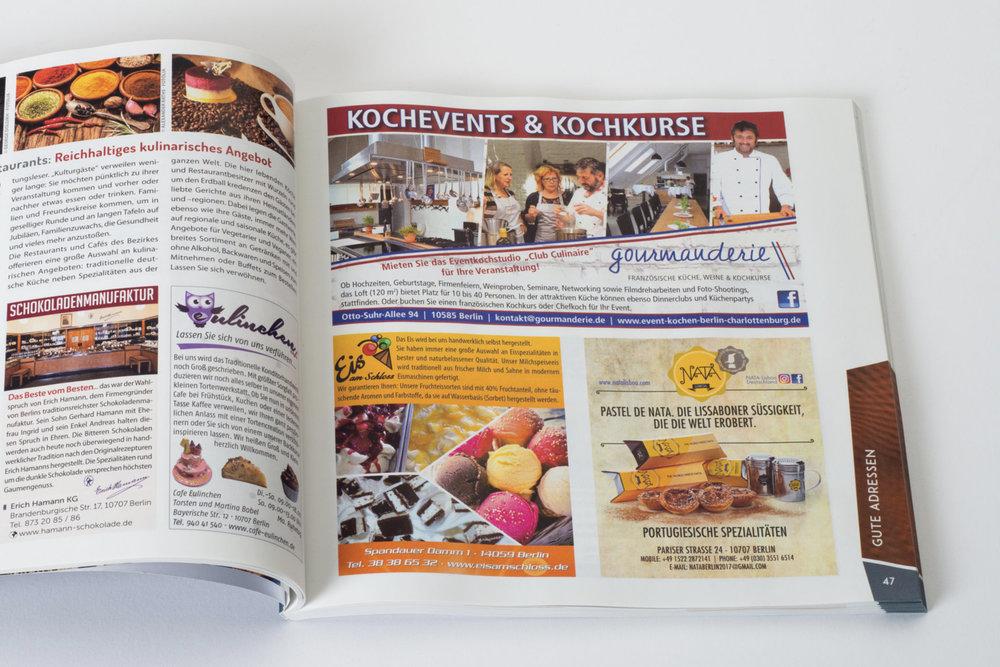 Hochwertige Langzeit-Werbepräsenz - Mit einer Auflage von ca. 750.000 Exemplaren und über 3.500 Auslageorten sind unsere Broschüren in allen Bezirken Berlins und auch in Brandenburg vertreten. Erscheinungszyklen von einem und zwei Jahren garantieren eine wirksame Langzeit-Werbepräsenz.