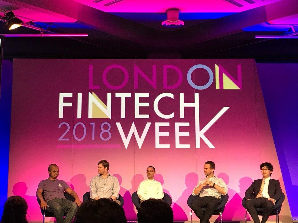 LONDON FINTECH WEEK 2018 - BLOCKCHAIN IN FINANCE AND ENTERPRISE