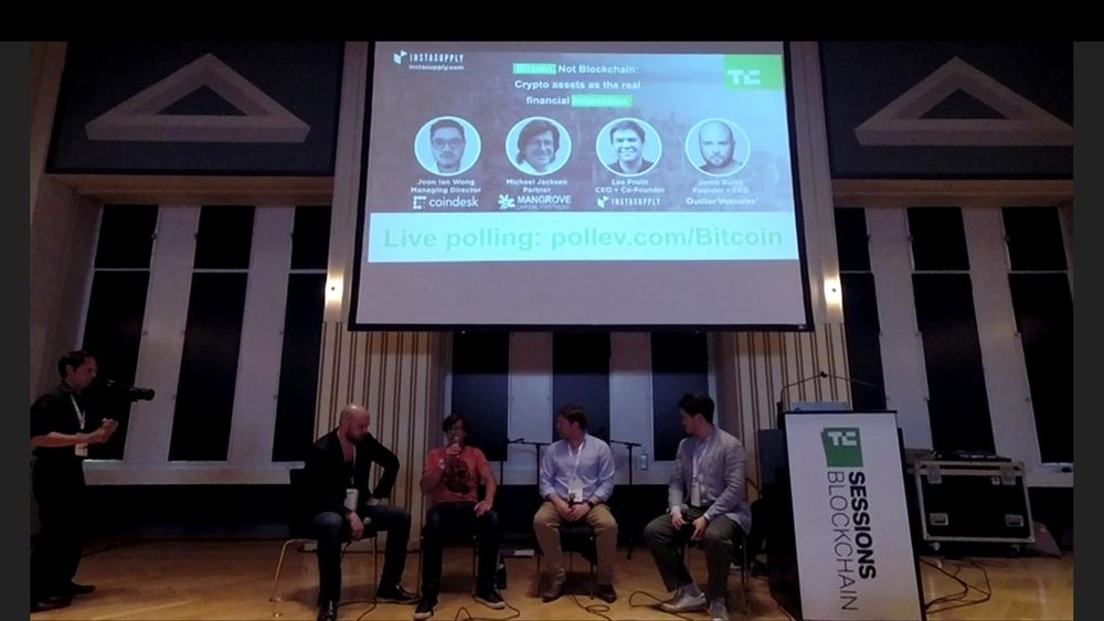 TECHCRUNCH BLOCKCHAIN SESSIONS - ZUG SWITZERLAND (WITH COINDESK, MANGROVE CAPITAL, AND OUTLIER VENTURES)