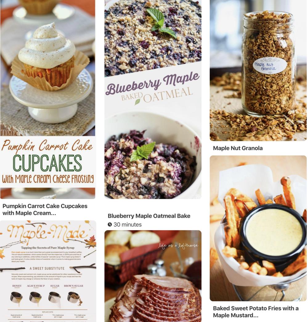 MMSA Pinterest Recipe Page -