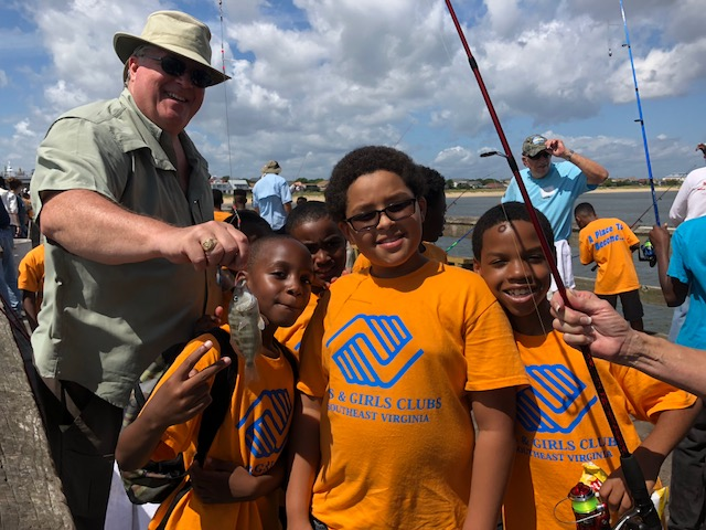 Club members at the 31st Annual fishing Day hosted by the Knights of Columbus.