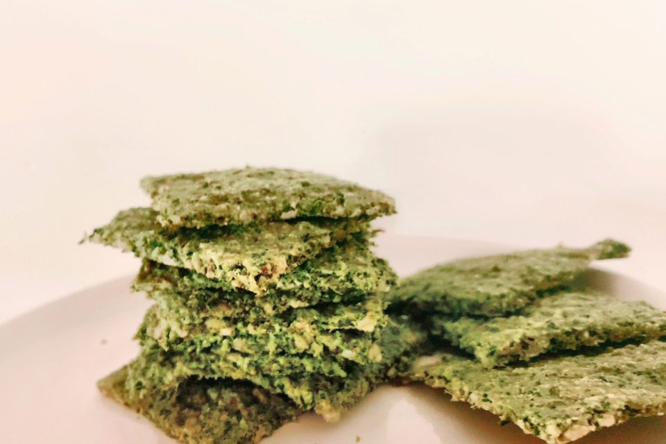 Almond Kale Crackers