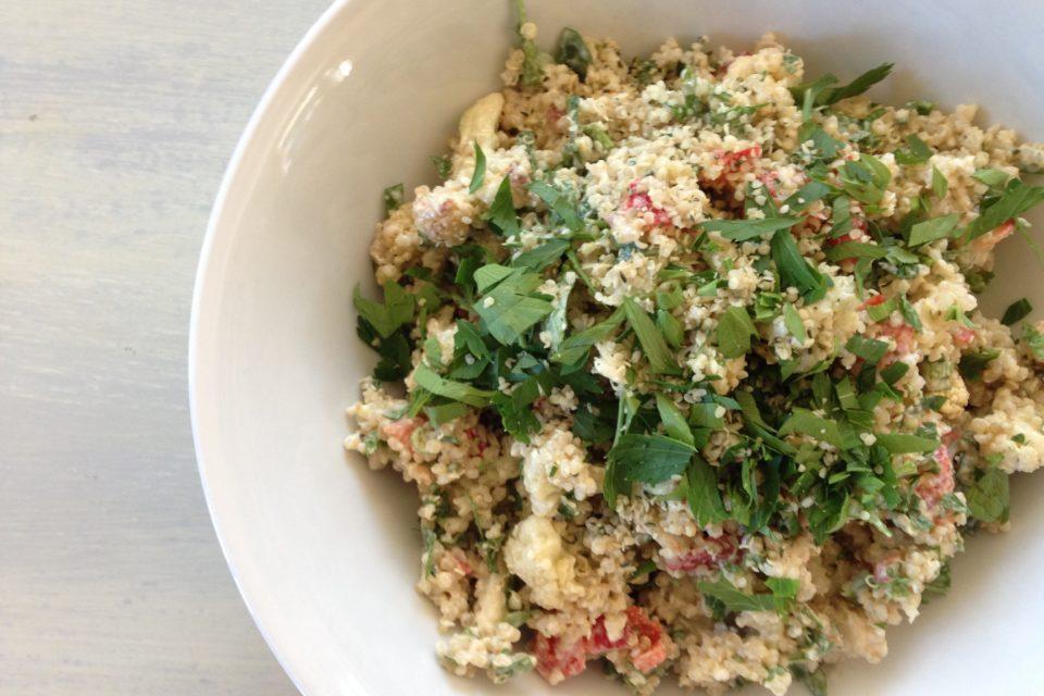 Herbed Cauliflower Quinoa Salad