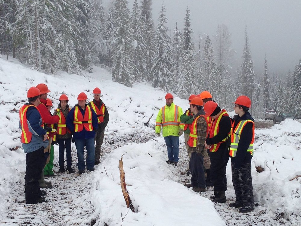 ATCO Wood Products employees had a great time hosting the Forestry Connections Cub from Stanley Humphries Secondary School in Castlegar for a tour of our forest operations.