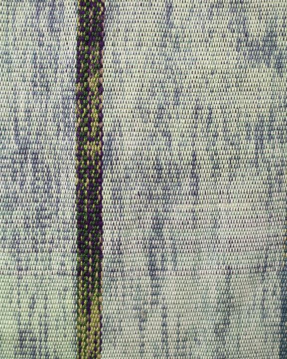 "Mossy Waterfall  28"" x 9' Plain weave ikat  $700"