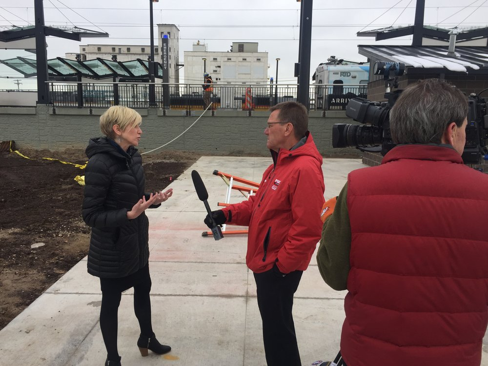 Jamie in 2016 interviewing on the opening of the A-Line and its impact on neighborhoods