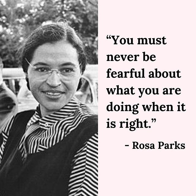 Rosa Parks was an activist in the civil right movement, inspired millions of people and never feared to do what's right. Today we honor her legacy and everything she has done. #blackhistorymonth #rosaparks