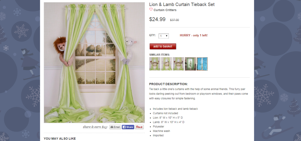Lion   Lamb Curtain Tieback Set   zulily sample.png