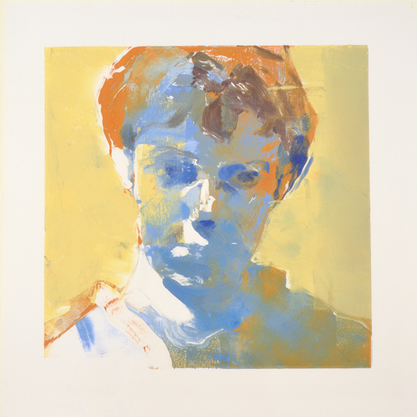 Head of a Boy (yellow background)