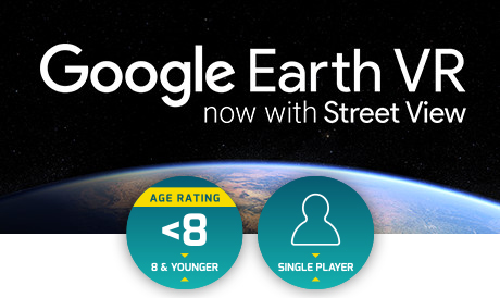 Google Earth VR lets you explore the world from totally new perspectives in virtual reality. Stroll the streets of Tokyo, soar over the Grand Canyon, or walk around the Eiffel Tower.    View the trailer here >