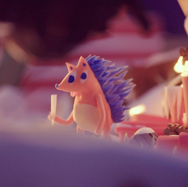 Someone's been licking too many icicles. Coming soon - our new Belgian lotto spot @parabellastudios #stopmotion #animation