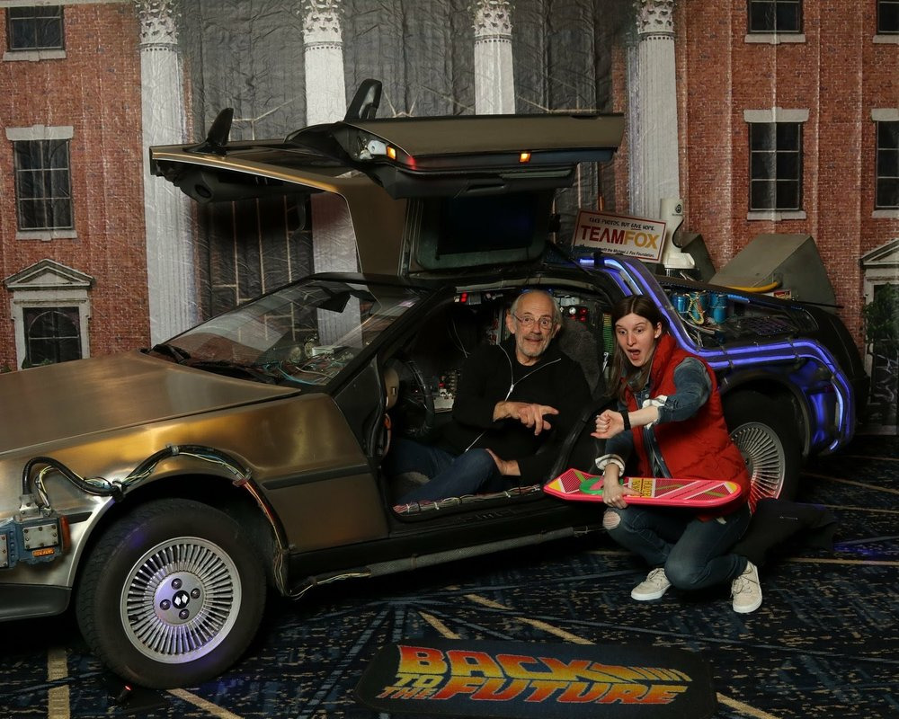 Christopher Lloyd and the DeLorean!!!