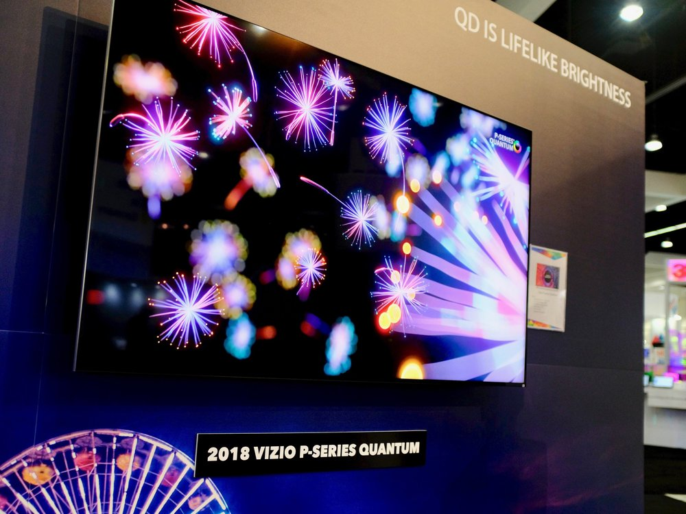 Vizio P Series Quantum featuring Nanosys Quantum Dot technology at DisplayWeek 2018