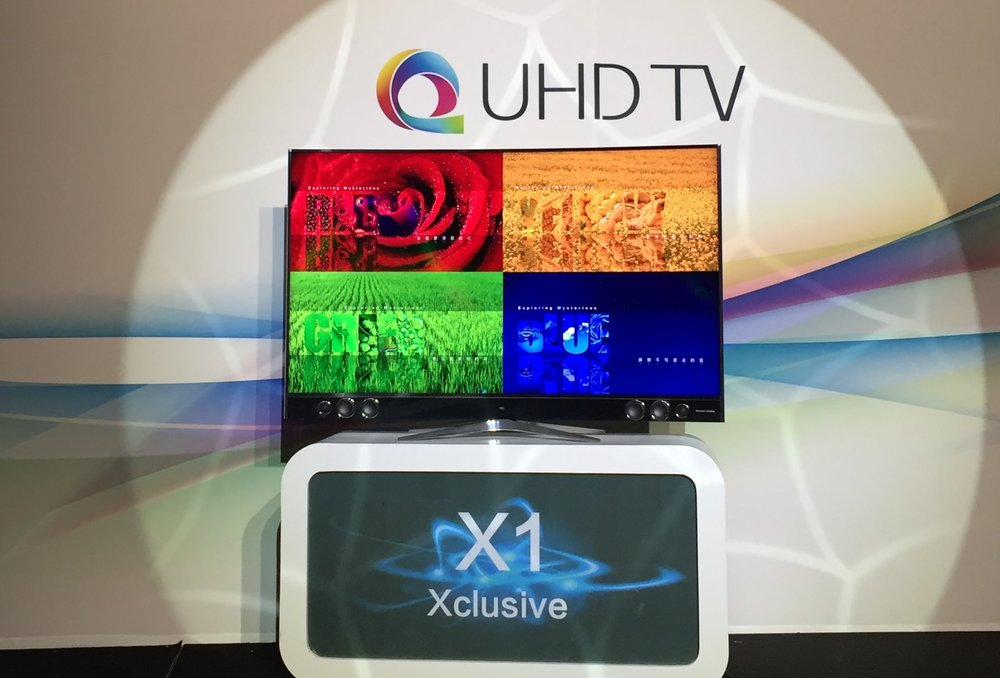 TCL X1 QUHD Quantum Dot TV at TCL's Tuesday Press Conference at CES