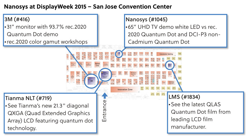 Nanosys Quantum Dots at DisplayWeek 2015 in San Jose