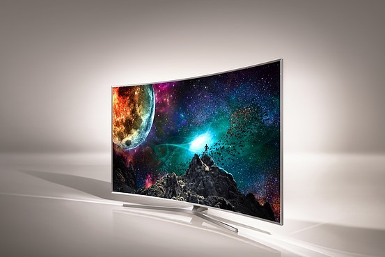 A Samsung SUHD TV featuring Quantum Dot technology licensed from Nanosys