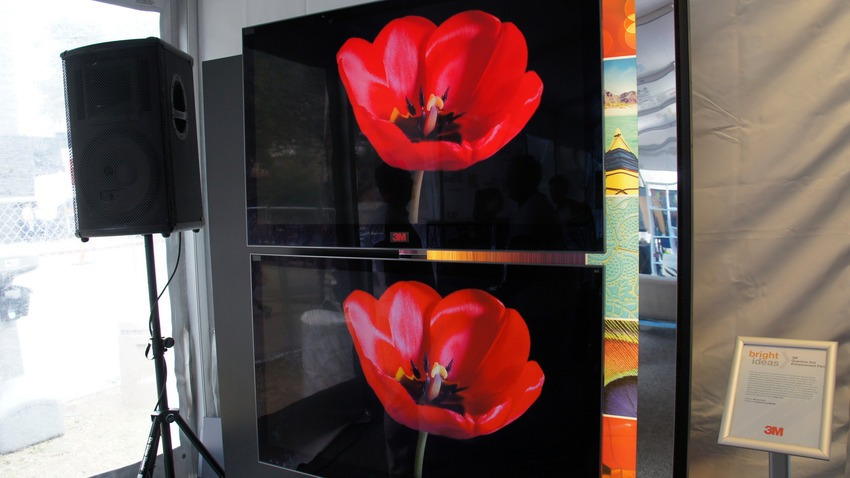 Quantum Dot enhanced display from Nanosys and 3M on display at SXSW 2014 in Austin, Texas