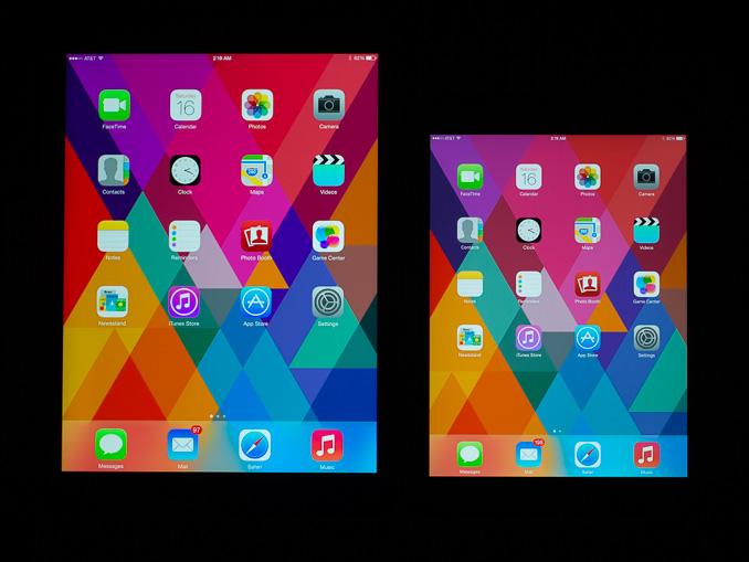 Apple iPad mini color gamut comparison. Amazon Kindle and Nanosys use quantum dots to improve color gamut performance