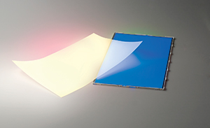 Quantum Dot Enhancement Film (QDEF) and an LCD with blue LEDs