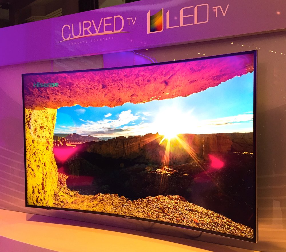 Hisense ULED TV featuring Quantum Dots from Nanosys and 3M at CES 2015
