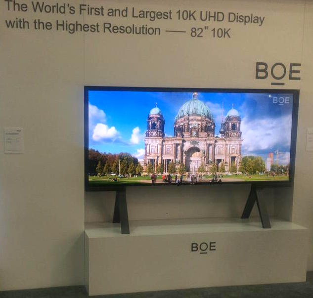 "BOE's 82"" 10K display at SID 2015"