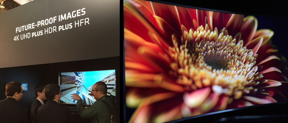 Images captured on the ARRI's latest Alexa SXT cameras looked stunning on Samsung's Quantum Dot-enhanced SUHD TVs at the ARRI booth at NAB 2015