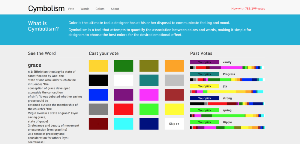 Cymbolism is like a combined dictionary and thesaurus for color.