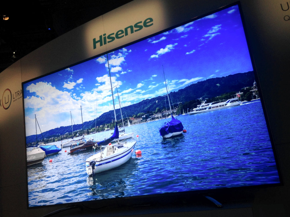 "Hisense 85"" 4K Quantum Dot LCD TV with DCI-P3 color gamut featuring Quantum Dot tech from Nanosys and 3M"