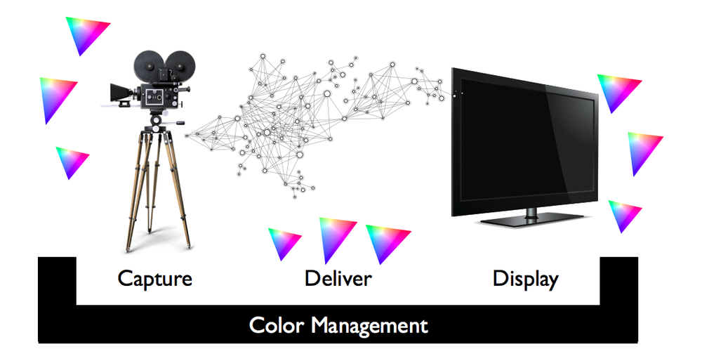 Wide color gamut displays combined with good quality color management and the web as a broadcast platform will allow content to accurately be displayed in the correct color gamut.