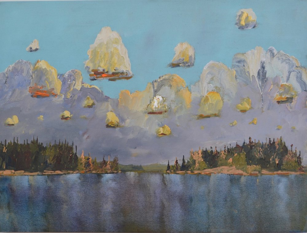 Clouds Above Shimmering Water 2017 acrylic on linen 36_ x 48_.jpeg