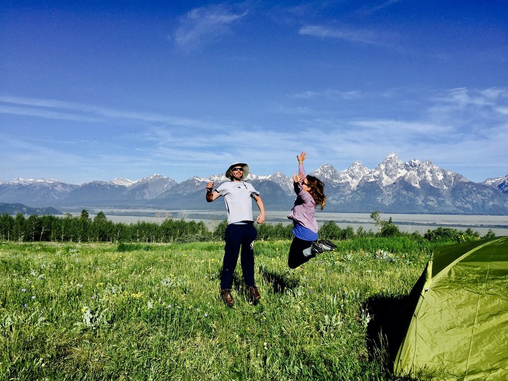 No wonder it's high use - Who wouldn't want to camp here? The Bridger-Teton National Forest is working to address the growing impact of dispersed camping pressure by numbering and legitimizing campsites, installing informational signage, and launching a pilot volunteer Frontcountry Ambassador program in 2019.